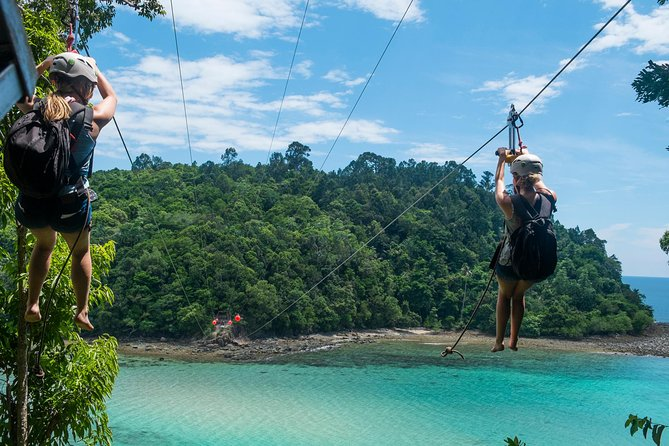 Marine Park and Coral Flyer Zipline from Kota Kinabalu