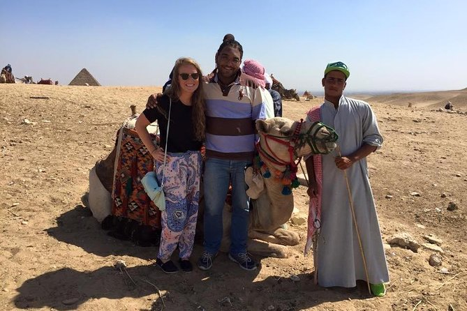 Giza Pyramids and Egyptian Museum Private Day Tour with Camel Ride