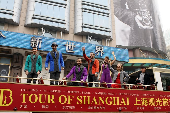 Ingresso premium de ônibus da excursão com várias paradas incluindo entrada para as atrações principais da cidade de Xangai