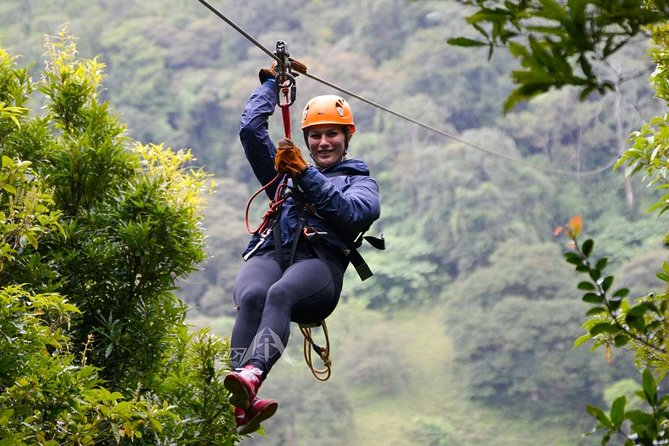 Extreme Canopy tour in Monteverde