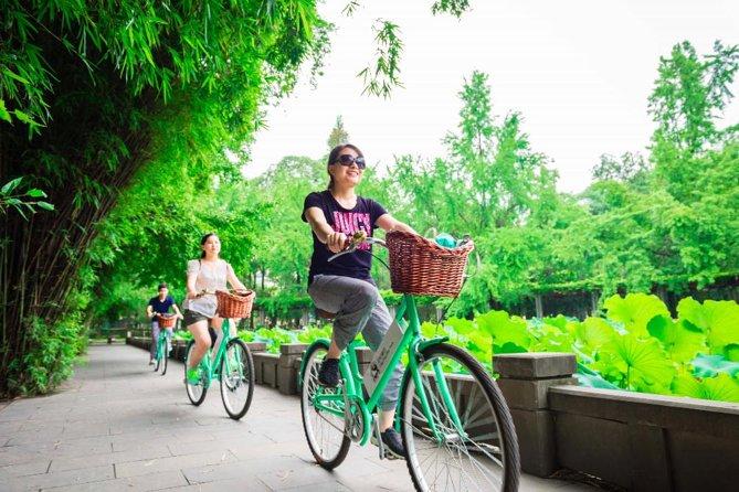 Halfdaagse kleine groep Beste van de Chengdu-fietstocht
