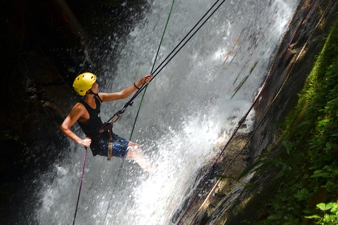 3.5-Hour Waterfall Abseiling Tour at Ulu Geruntum From Gopeng