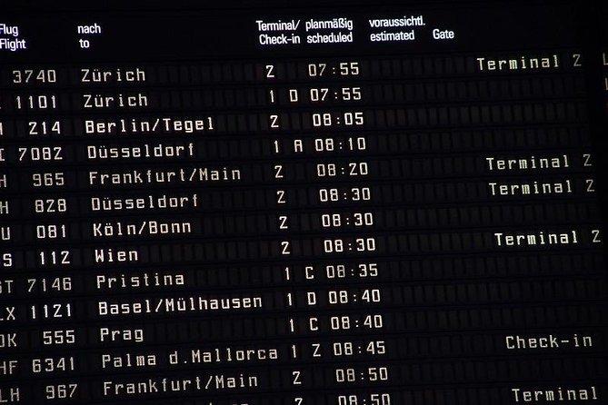 Traslado particular de partida do Aeroporto de Zurique