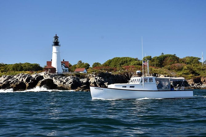 M/V MONHEGAN at Portland Head Light