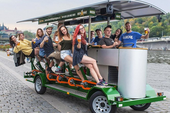 Private Beer Bike Prague Tour with Unlimited Premium Beer