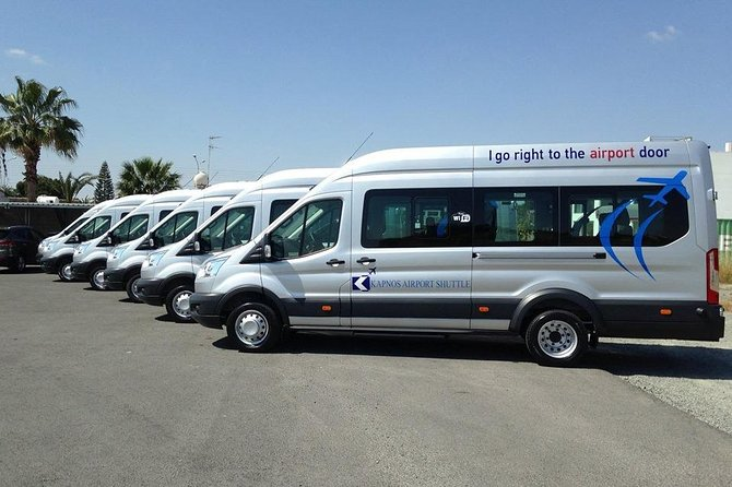 Shared shuttle transfer from Larnaca Airport to Hotels
