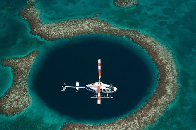 Great Blue Hole and Barrier Reef Helicopter Tour