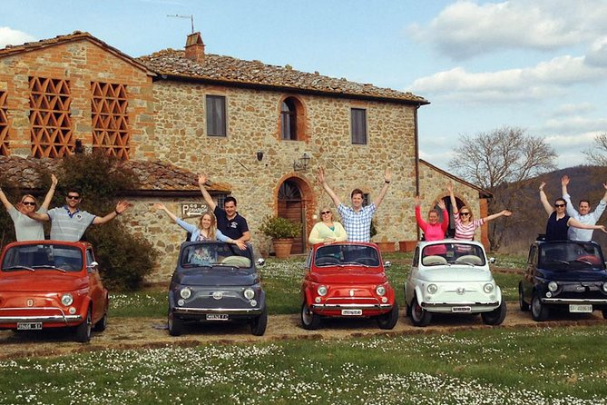 Fiat 500 Vintage Tour on the Tuscan hills with a local meal