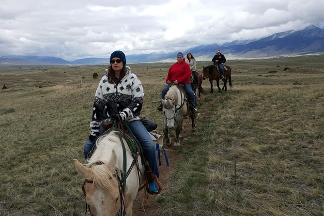 ERR member, Carolyn, pictured on a trail ride