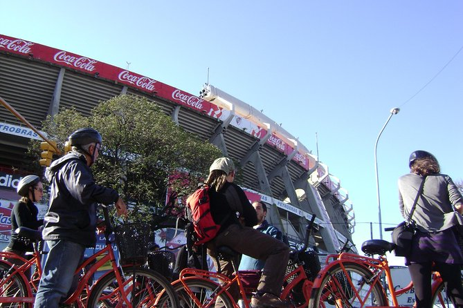 Stop at River Plate Stadium during your bike tour.