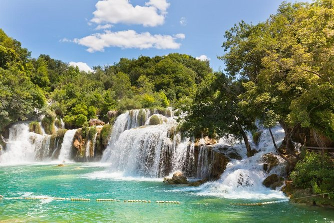 Breathtaking Krka waterfalls, relaxing walk through nature