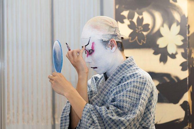 Experience of Japanese traditional dance & Kabuki make-up