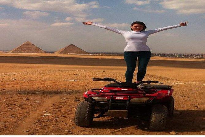 Quad bike adventure tour around the Pyramids and Sphinx