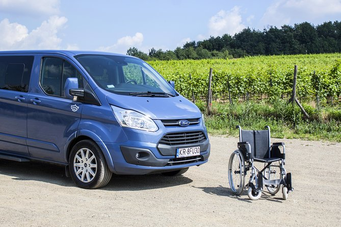 Private Airport Transfer by a car adapted to transport disabled people