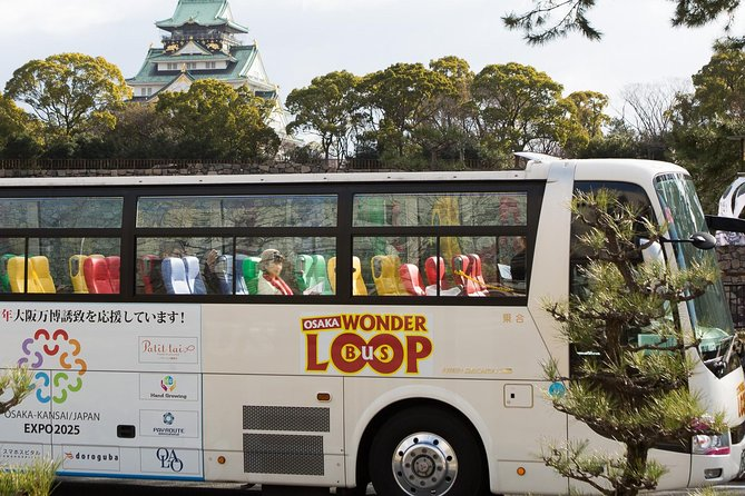 Excursão de barco e ônibus com várias paradas e passe de metrô em Osaka