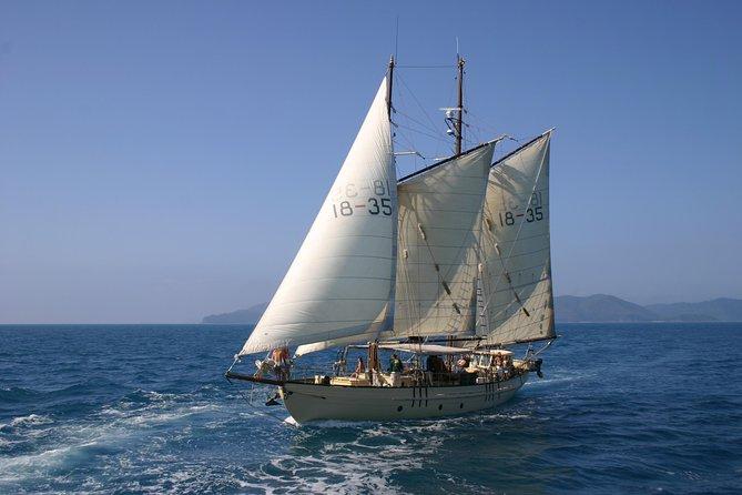 Segel- und Schnorchelabenteuer auf einem Großsegler von den Whitsundays aus