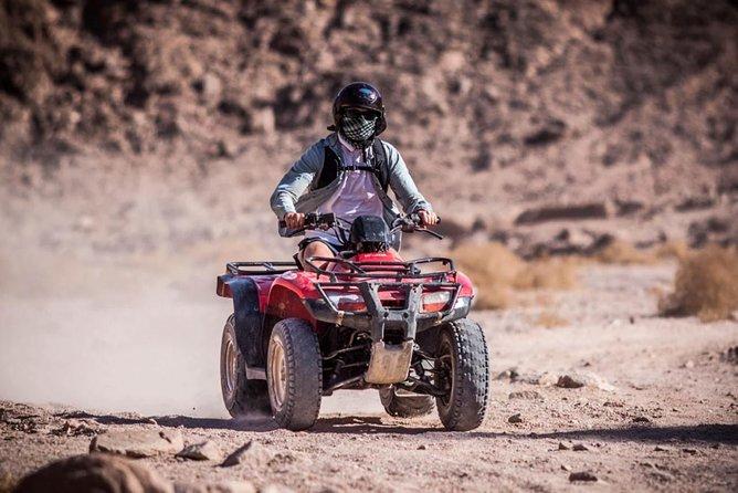 Quad biking in the palm grove of Marrakech