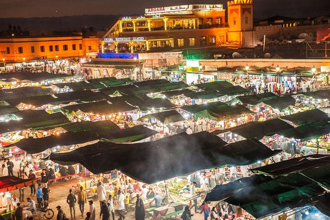 Experience Marrakech: Food and Market Tour of Djemaa El Fna, Including Traditional Dinner