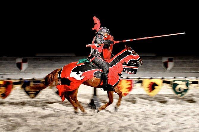 Dîner et tournoi au Moyen Âge avec option de groupe de transport