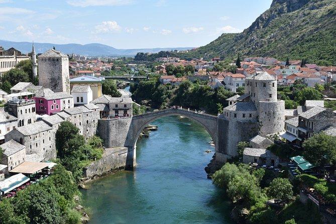 Mostar con cascate di Kravice da Dubrovnik
