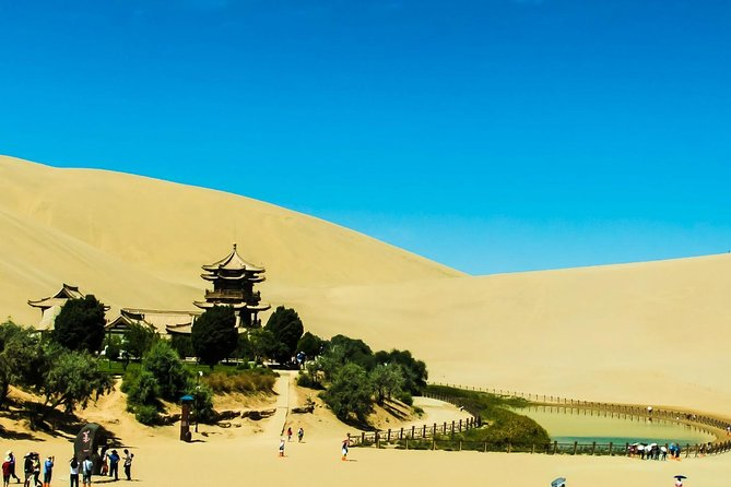 Dunhuang Silk Road Adventure Day Tour: Mogao Grottoes and Crescent Moon Spring