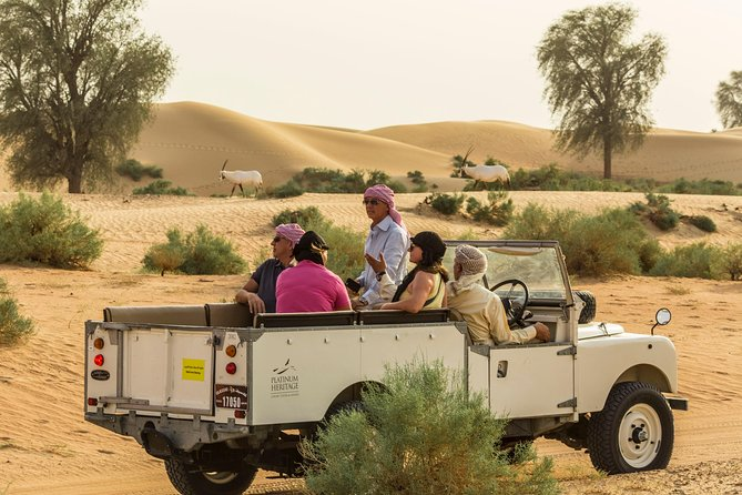 Private Vintage Land Rover Heritage Desert Safari- 4 Course Dinner & Activities