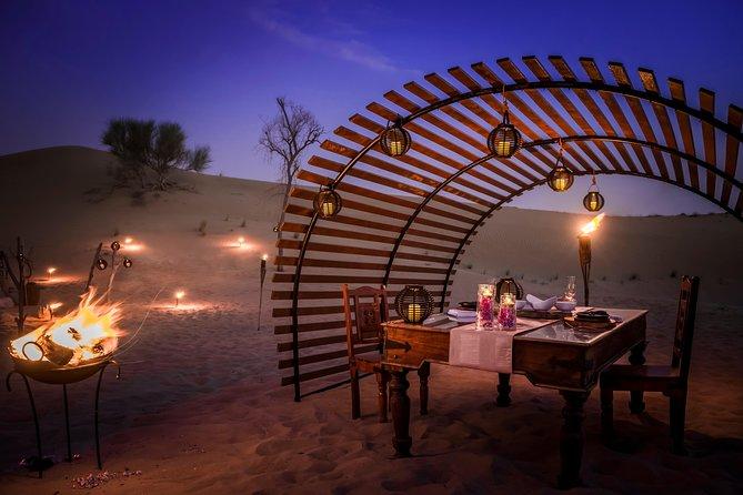 Platinum Luxury Desert Safari with Range Rovers and 6-Course Dinner in Cabana