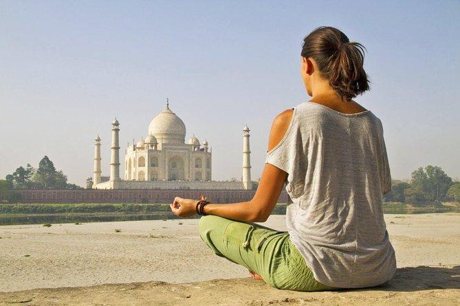 Private Yoga Session Facing Taj Mahal