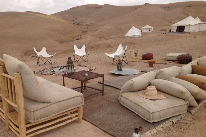 Lunch in The Luxury Camp in the Great Agafay Desert