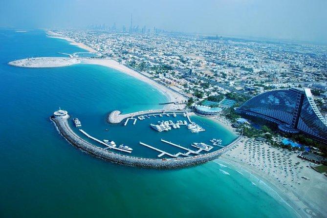 Dubai Helicopter Flight, 4x4 Desert Camp Tour with BBQ Dinner