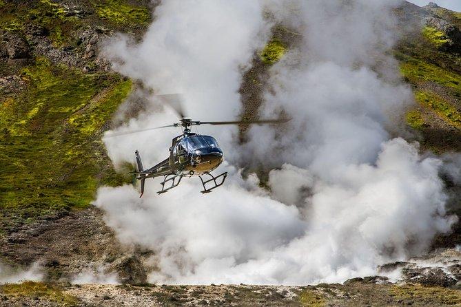 Helicopter Flight from Reykjavik: Thingvellir National Park and Thórisjökull Glacier