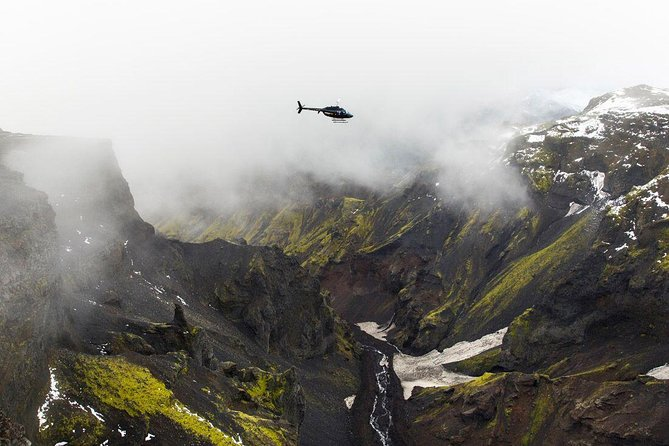 Helicopter Flight from Reykjavik: Eyjafjallajokull Glacier and Volcanoes