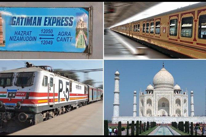 Agra day tour by Gatimaan Express -TAJ & FORT