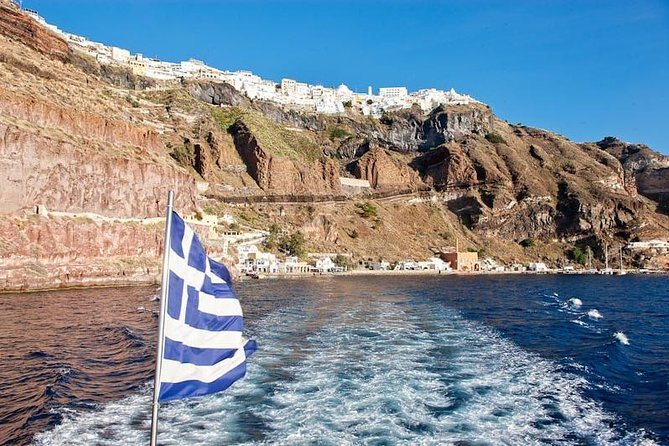 Early Season Experience: 3-hours Santorini Volcano and Hot Springs Trip