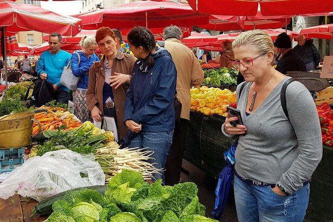 Zagreb Food & Wine Journey: mercado de agricultores - Brunch - Bodega boutique