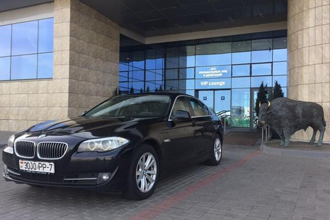 Transfer Minsk Airport - City Center by BMW 5 with English-speaking Driver