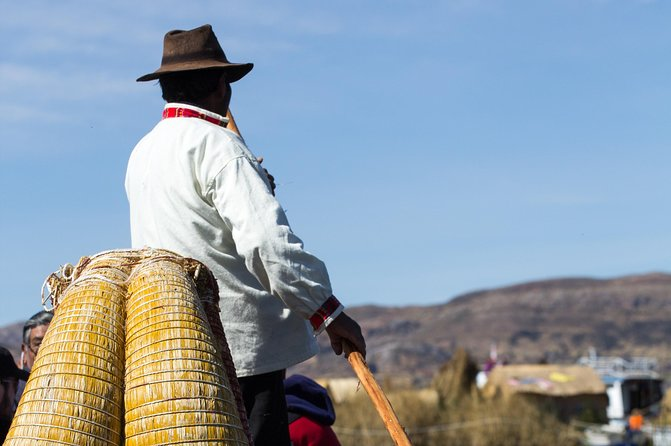 Visit a lakeside village and see the traditional totora reed boats!