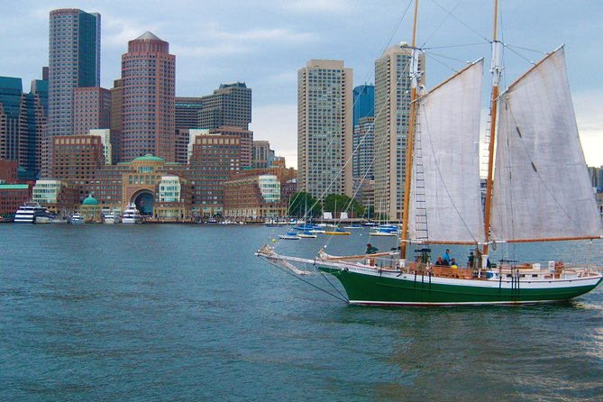 Cruise Boston Harbor on our 67 Foot Tall Ship Schooner