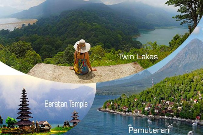 Private Transfer to Pemuteran Combination Beratan Temple, Twin Lakes & Munduk Waterfalls