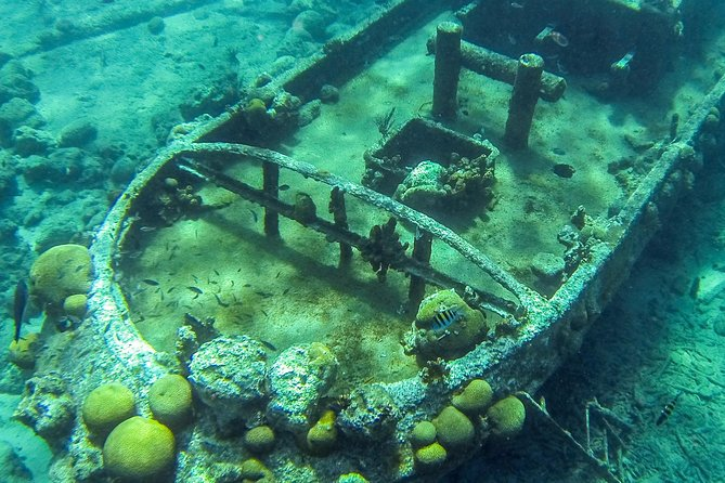 Excursão para mergulho com snorkel e visita a um rebocador em Curaçao