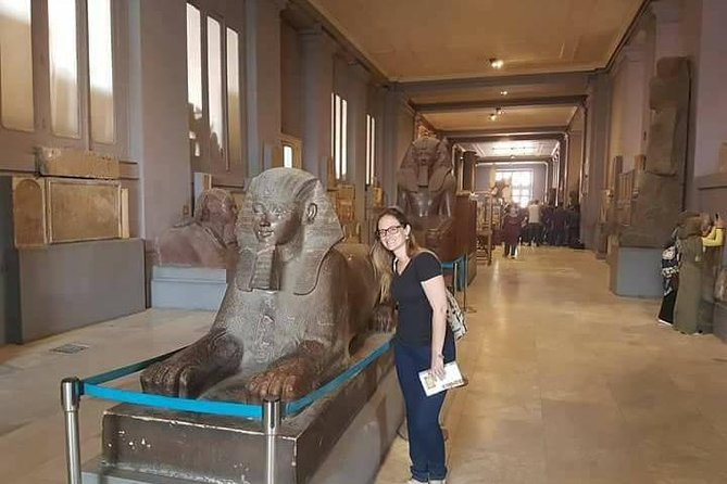 Discover Giza pyramids and Egyptian Museum and bazaar Include camel ride, Lunch