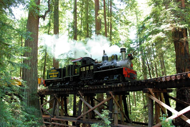 Roaring Camp Steam Train Through Santa Cruz Redwoods