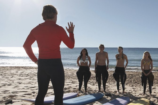 Receive customized instruction from a certified surfer