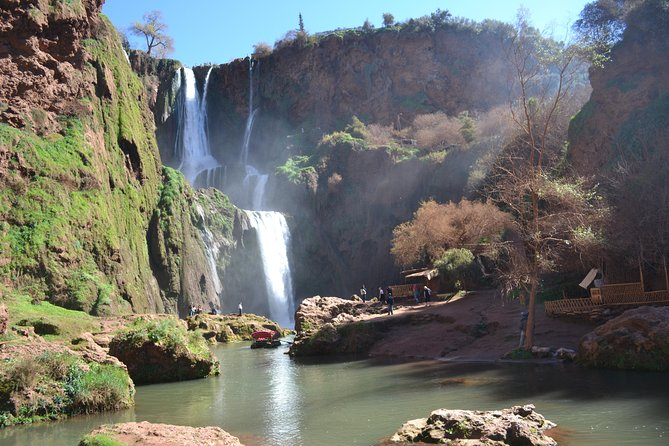 Full day trip to Ouzoud waterfalls visiting Iminifri pont naturel
