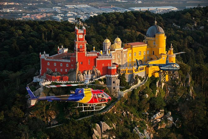Lisbon Private Helicopter Tour: Fly over Sintra, Pena Palace and Queluz Palace