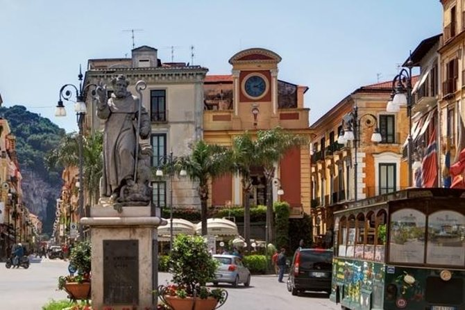 Enjoy ample free time in Pompeii, Sorrento and Positano on this private day trip