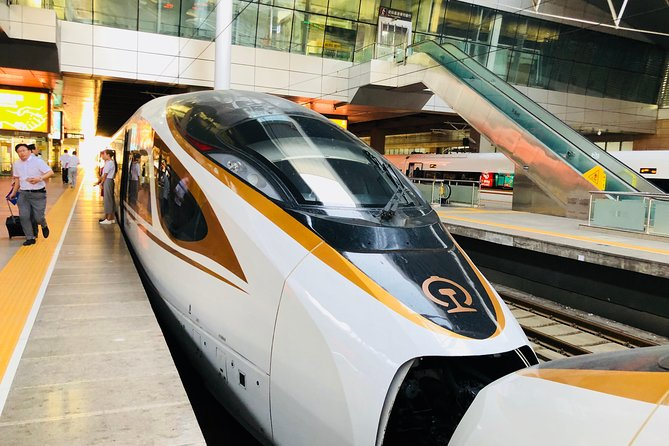 Private PEK Airport Departure Transfer from Tianjin with Bullet Train Experience