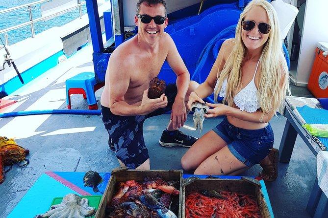 Santorini Traditional Fishing Experience fresh seafood, drinks & transportation