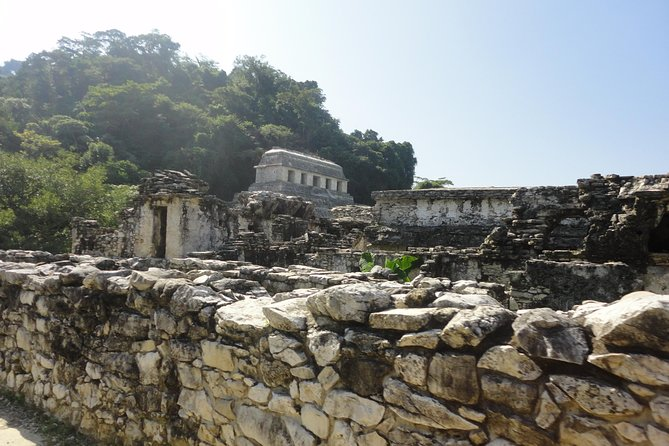 Palenque Archaelogical Site Tour and Misol-Ha Waterfall from Villahermosa