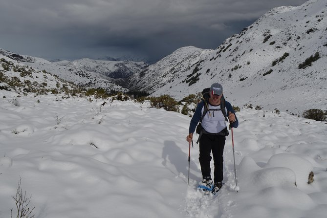 Private Snowshoes Hike Full Day experience in Andes Mountain Range from Santiago